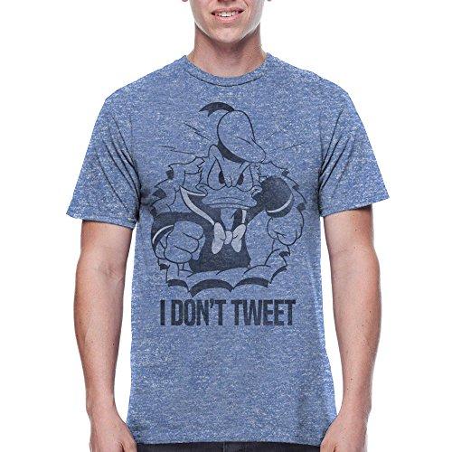Donald Duck Disney Men's I Don't Tweet Quackers T Shirt Tee (Medium (38/40))