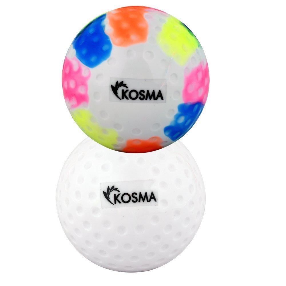 pr/áctica de entrenamiento de pelota material de policloruro de vinilo set de 2 piezas para practicar deportes al aire libre Pelotas de hockey Kosma