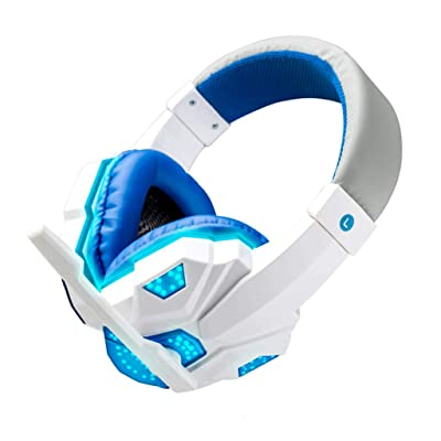 Haxikocty Stereo Gaming Headset 3.5mm for PS4, PC, Xbox One Controller, Noise Cancelling Over Ear Headphones with Mic (1PCS, White): Clothing