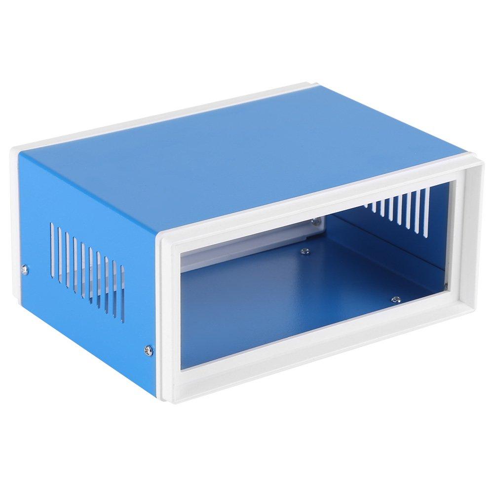 Caja de conexión impermeable antipolvo de plástico + hierro caja de Universidad eléctrico universal gris 17x 13x 8cm/6,6x 5x 2,12x 3,15pulgadas