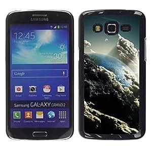 TopCaseStore / la caja del caucho duro de la cubierta de protección de la piel - Space Planet Galaxy Stars 57 - Samsung Galaxy Grand 2 SM-G7102 SM-G7105