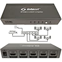 Inteset 4K, 1 to 4 HDMI 2.0 & HDCP 2.2 Splitter-Supports Full HD, 3D, HDR Signals, 4k@60hz (One Input Device to Four Displays)