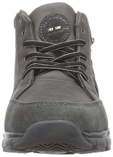 Lico Roger - zapatillas deportivas altas de material sintético niños gris - Grau (grau/anthrazit/lemon)