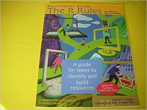 Gratuit pour télécharger des livres audio pour mp3 Facilitator Guide the R Rules for Middle and High School Students Includes Dvd: Powerpoints, 4 Bonus Video Stories by Elizabeth W. Souther (2008-01-01) PDF RTF DJVU B01A0C2JQU