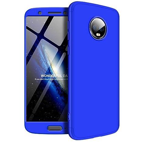 Solaxi Funda Motorola Moto G6 Carcasa Mate 3 en 1 360 Grados Cuerpo Completo Ultra Delgado PC Duro Superficie Antigolpes Anti-Arañazos [Protección ...