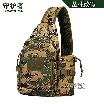 hongrun Tout-en-un pack forfait tactique de la poitrine avec un seul sac d'épaule Sac à dos d'équitation avec de l'eau bouteille Pack poitrine manches
