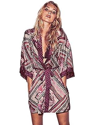 Victoria's Secret Satin Kimono Robe Size XS/S