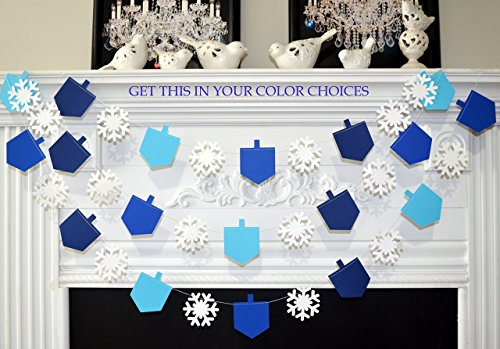 Dreidel garland, dreidel banner, dreidel decorations, Hanukkah decorations, Hanukkah holiday decor, festival of lights, Jewish garland, Hanukkah decorations