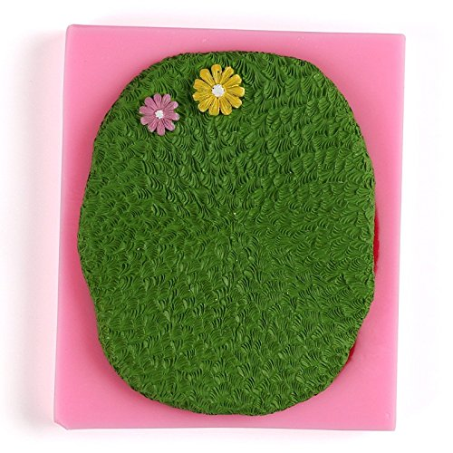 Silicone Lawn Flowers Textured Fondant Cake Mold Handmade Cookies Chocolate Mould Kitchen DIY Baking Decorating Tools Soap Molds