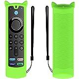 Fit Designed for 2021 Fire TV Stick 4K Alexa Voice Remote Control (3rd Gen), Suublg Silicone Remote Case Protective Covers wi