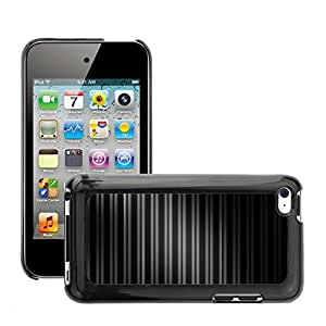 Super Stellar Slim PC Hard Case Cover Skin Armor Shell Protection // M00048745 pattern stripe aero black patterns // Apple iPod Touch 4 4G 4th