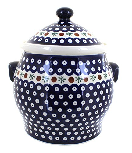 Polish Pottery Nature Cookie Jar by Zaklady