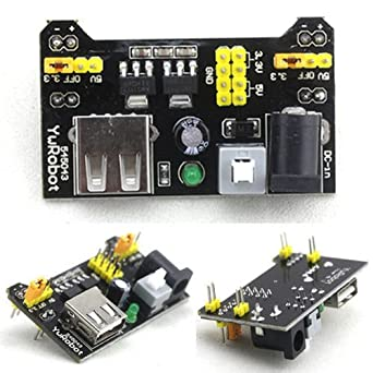 Generic DIY Retails 3 3V and 5V Power Supply Module for MB102 Bread Board  Arduino Raspberry Pi, Black