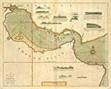 Historic 1702 Map | A large draught of the GOLF of PERSIA | Persian Gulf | The sea-atlas : containing an hydrographical description of most of the sea-coasts of the known parts of the world.