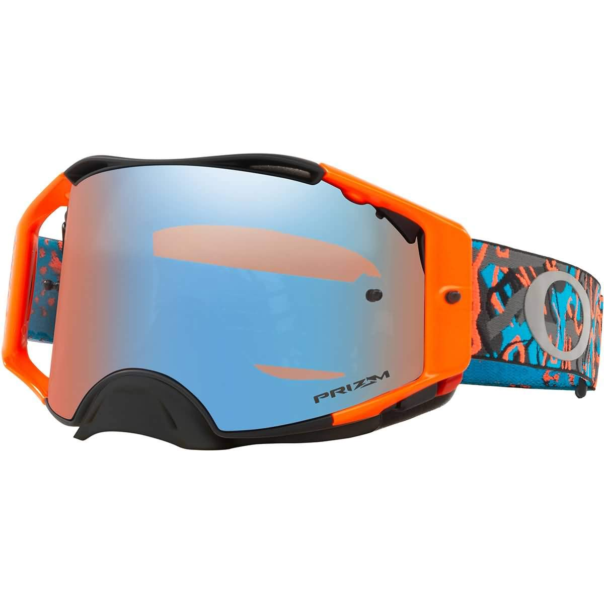 Oakley Airbrake MX Adult Off-Road Motorcycle Goggles - Camo Vine Night Orange Blue w/Prizm Sapphire