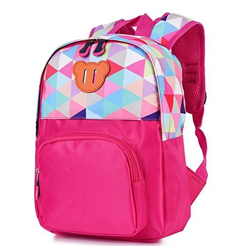 Vbiger Toddler Backpack Kids' Cartoon Carrying Bag Schoolbag (Rosy) (Toddler Girl Backpacks Personalized)
