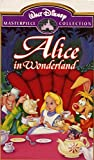 Walt Disney Masterpiece Collection Alice in Wonderland VHS Clamshell
