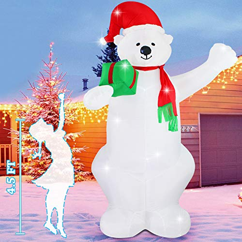 Fashionlite 8 Feet Christmas Xmas Inflatable Bear Lighted Blow-Up Yard Party Decoration