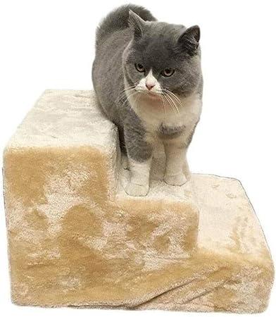 STAIRS H-Escaleras para Mascotas Plataforma De Salto Mascota Peldaños De Escalera, Gatos Y Perros Escalera De Felpa Sofá Cama Perro Pequeño Fácil De Quitar Y Lavar: Amazon.es: Hogar