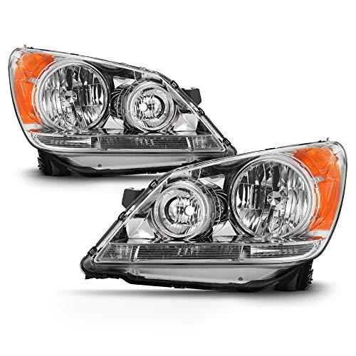 - ACANII - For 2008-2010 Honda Odyssey Headlights Chrome Housing Headlamps Replacement Driver & Passenger Side