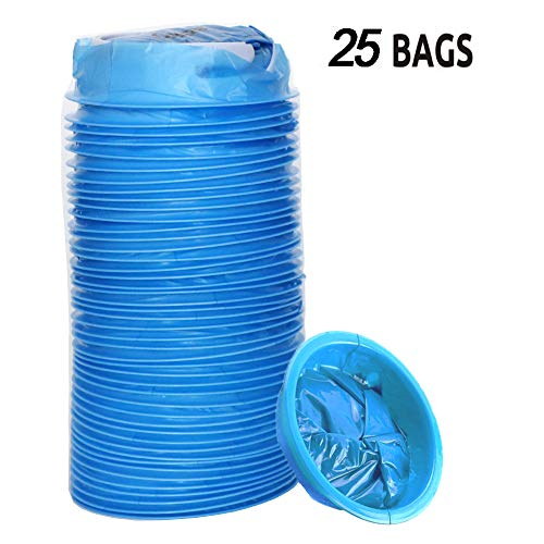 Vomit Bags for Car, 25 Pack Emesis Bags - Travel Motion Sick Throw up Bag/Disposable Blue Barf Bag for Morning Sickness & Hangovers by AOVIOAN BAG