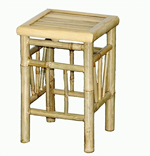 - Bamboo Stool Pedestal with All Construction - Set of 2