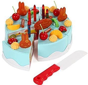 Make Decorate Your Own DIY Birthday Cake 37 Piece Kids Pretend Play Food Toy