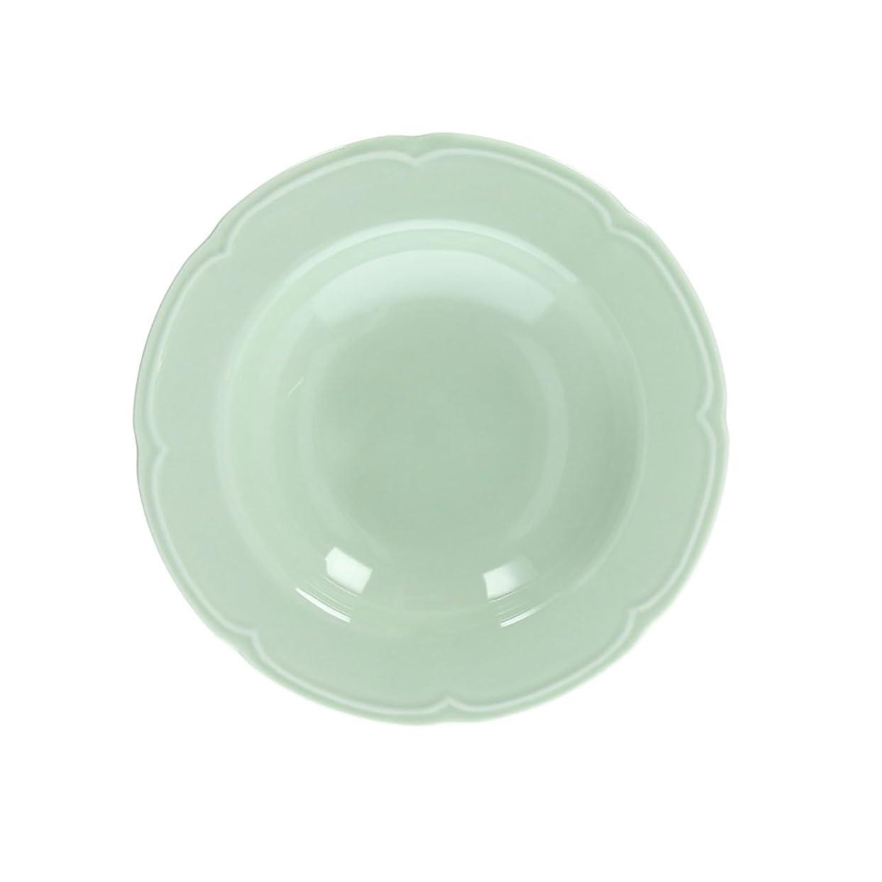 不安定な資格情報もつれスープ皿 18.5cm 白い食器 割れにくい食器 強化磁器 美濃焼 中華食器