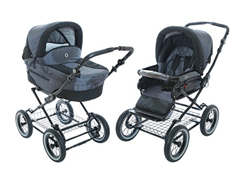 Great Deal! Baby Stroller for Infant Newborn and Toddler Roan Rocco Classic Pram Stroller 2-in-1 wit...