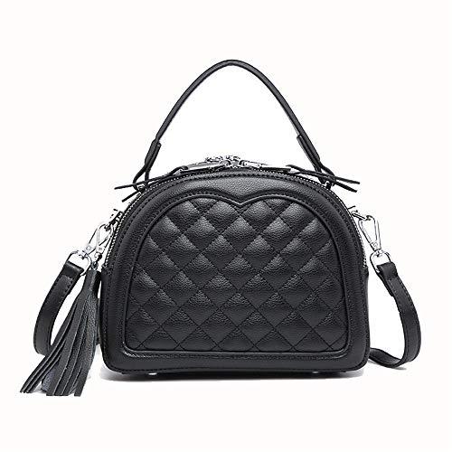 Totes Negro Hobo de Negro Color de Bolso Bags Bolsos Femenino Diagonal Bag Borla Paquete verstil Crossbody Almacenamiento de Las Mujer Shoulder Femenino Hombro Xuanbao seoras SwRagqa7