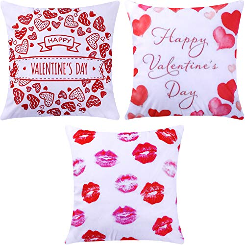 Jetec 4 Pieces Decorative Pillow Cover Pillow Case Sofa Back Throw Cushion Cover for Easter Day, St. Patricks Day, Thanksgiving Day Home Decoration, 18 by 18 Inches (Color Set 5)