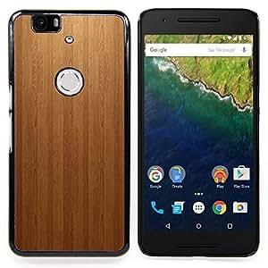 GIFT CHOICE / Teléfono Estuche protector Duro Cáscara Funda Cubierta Caso / Hard Case for Huawei Google Nexus 6P // Wood panel Texture Patern //