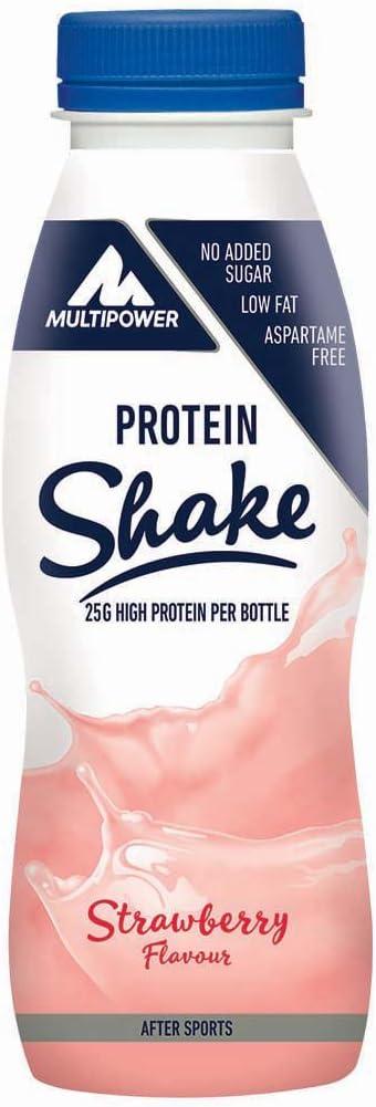 Multipower 25g Protein Shake, Sabor Strawberry - 12 Unidades
