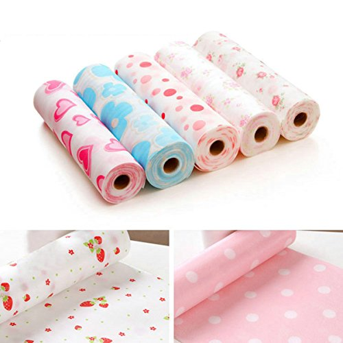 Kathy Pack of 3 Multifunctional Anti-oil and Water Meal Coaster Tablecloth Anti-bacterial Cabinet Mat (Random Color)
