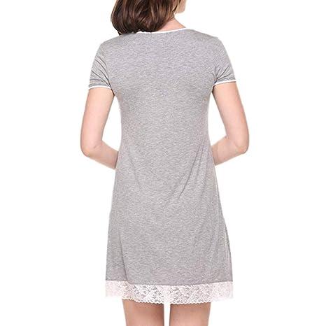Rcool Camisones Batas y Kimonos Camisones Mujer Camisones Verano Camisones Tallas Grandes Mujer,Camisa de Dormir de Manga Corta para Dormir para Mujer ...