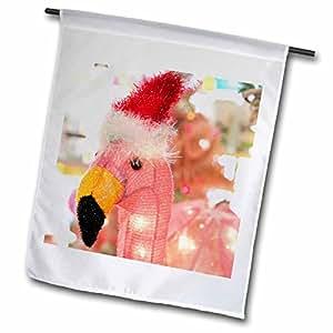 Danita Delimont–Navidad–envejecido rosa Flamingo con gorro de Papá Noel, Palm Springs, California, Estados Unidos.–Banderas