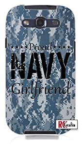 Cool Painting Camouflage Proud Navy Girlfriend Digital Camo Blue Unique Quality Hard Snap On Case for Samsung Galaxy S4 I9500 - White Case