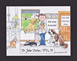 Veterinarian - Personalized Custom Cartoon Person...
