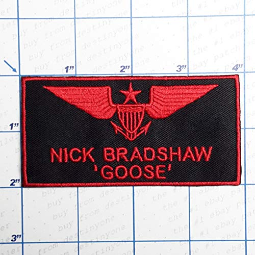 SNOW - 1 PC DIY New Military Patch Shop - Iron-on Patch Collection - Air Force, Army, Navy # Nick Bradshaw Goose