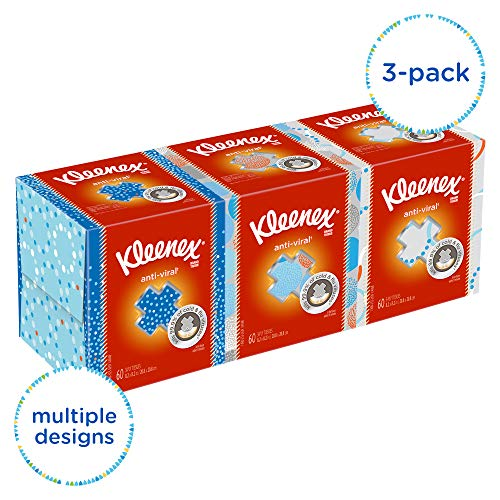 - Kleenex Professional Anti-Viral Facial Tissue Cube for Business (21286), White, 3 Boxes / Bundle