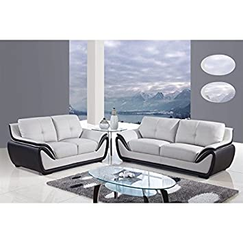 Pleasant Amazon Com Global Furniture Usa 4 Piece Leather Sofa Set In Machost Co Dining Chair Design Ideas Machostcouk