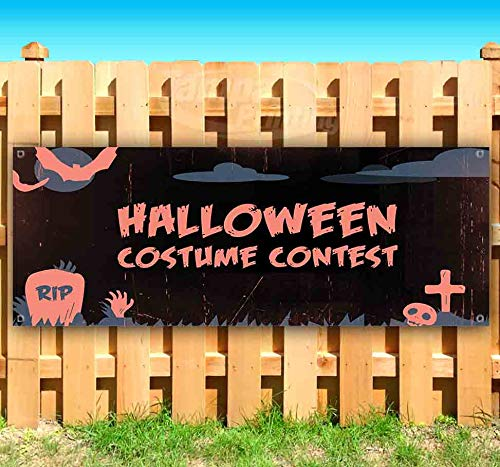 Halloween Costume Contest 13 oz Heavy Duty Vinyl Banner Sign with Metal Grommets, New, Store, Advertising, Flag, (Many Sizes Available) -