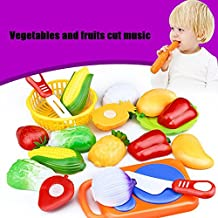 Educational Toy,IEason Hot Sale!12PC Cutting Fruit Vegetable Pretend Play Children Kid Educational Toy