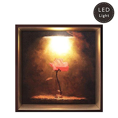 ShinnyArt The Rose Painting with Sensor LED Light