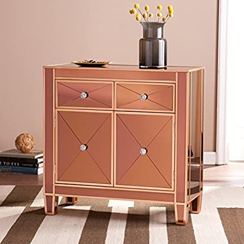 Harper Blvd Minna Bronze Colored Mirrored Cabinet - Mirrored Set China Cabinet