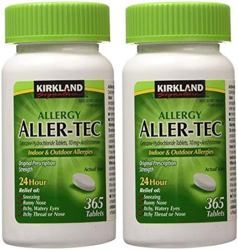 Kirkland Signature Aller-Tec Cetirizine Hydrochloride Tablets rnxiy 730 Count