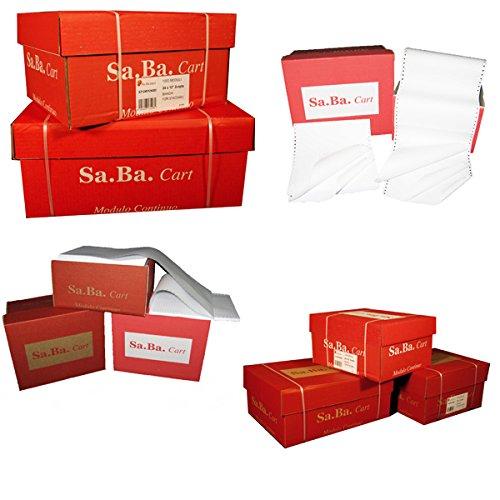 \'SA.Ba.Cart s01375117010Papier A Endlospapier, 375mm x 11, 70g/qm, leicht zu lesen Piste abnehmbaren, Packung 2000Blatt 375mm x 11 70g/qm Packung 2000Blatt