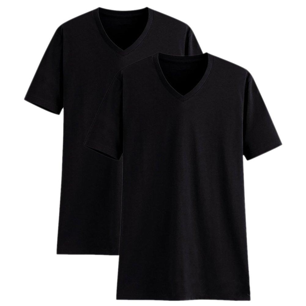 Camisetas Manga Corta Hombre Cuello Pico Algodón Paquete de 2 o de 5