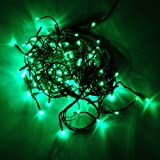 16.4 Feet 150 LED Icicle Christmas Holiday Lights with Green Wire, green