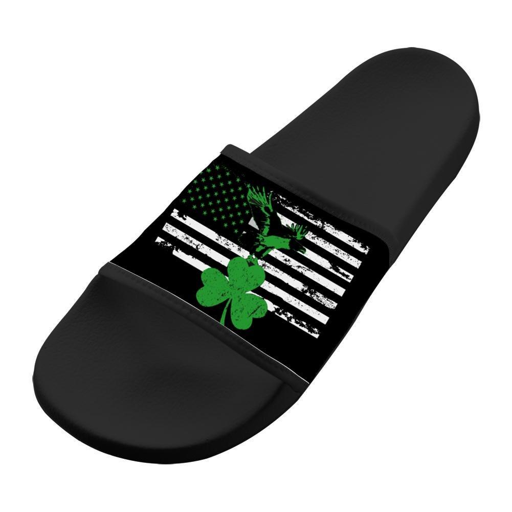 Dlongge Shamrock Ireland Flag Comfortable Slipper Summer Sandal Art graffiti Designs For Men /& Women